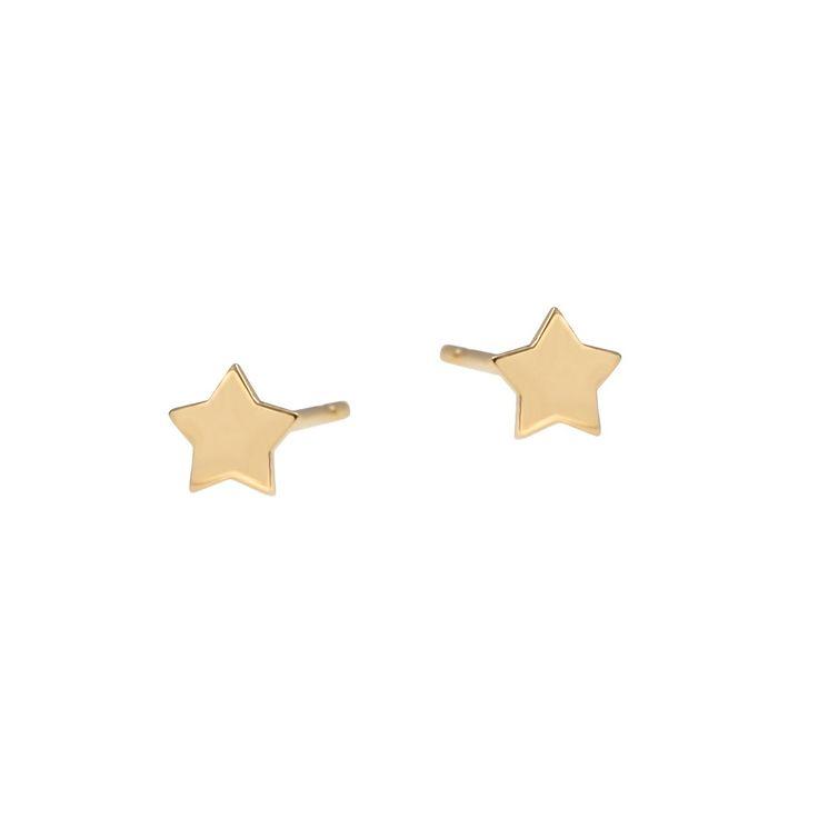 Złote kolczyki gwiazd GWIAZDKA 5 mm