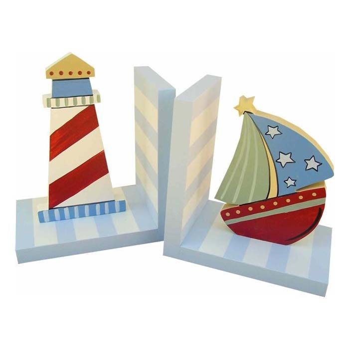 Nautical Lighthouse and Sailboat bookends decor at Jack Jill  Boutique 87 best Diy images on Pinterest Ballerinas Ballet flat