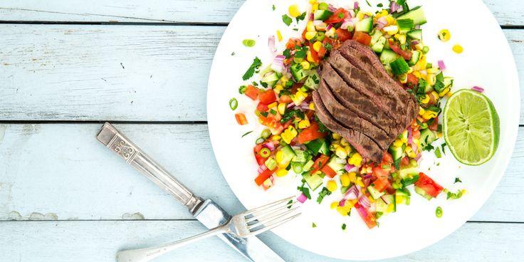 Mexican Salsa + Steak Salad