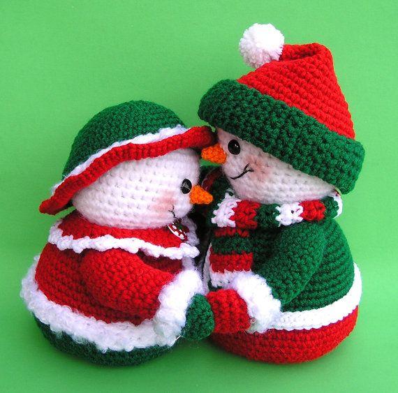 PDF Crochet Pattern Mr and Mrs WINTERS Snowmen (English ...