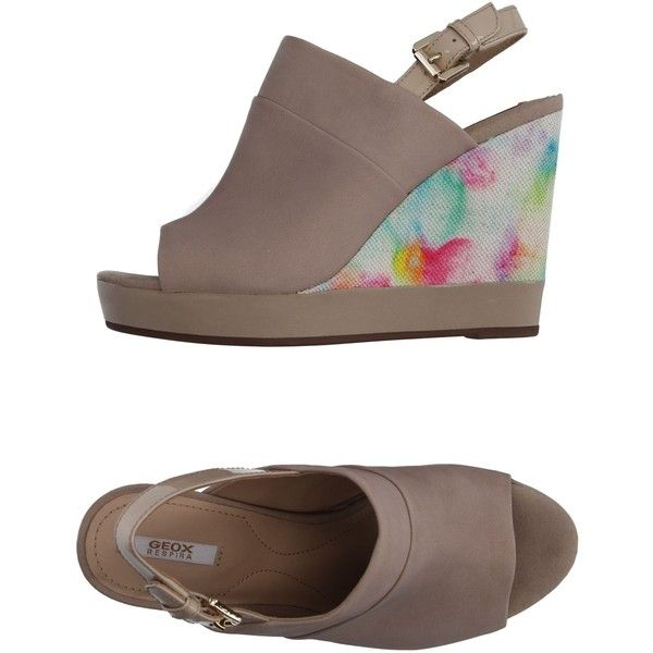 Geox Sandals ($34) ❤ liked on Polyvore featuring shoes, sandals, sand, animal shoes, geox sandals, geox, geox footwear and wedge sole shoes