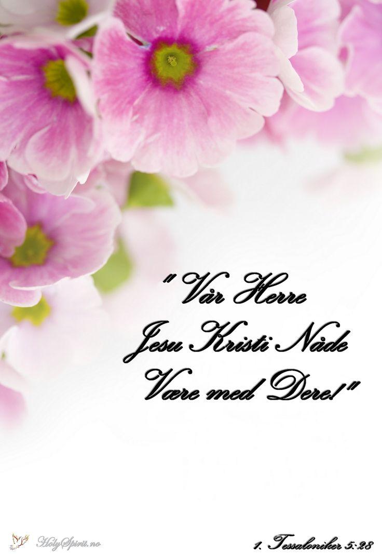 Nåde: Vår Herre Jesu Kristi nåde være med dere.