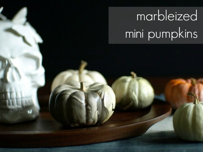 This Little Miggy || Marbleized Mini Pumpkins