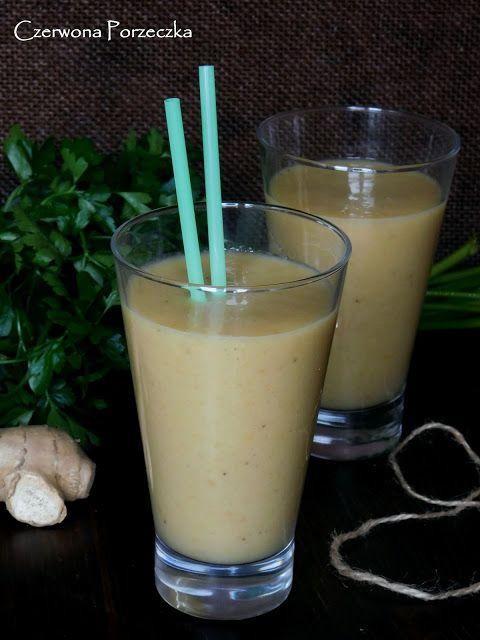 Czerwona Porzeczka: Smoothie z mango, bananem i imbirem