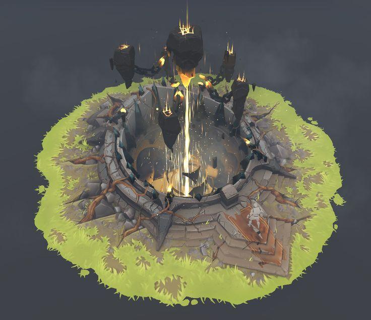 Fantasy Power Shrine - Zbrush/HandPainted/UE4 — polycount