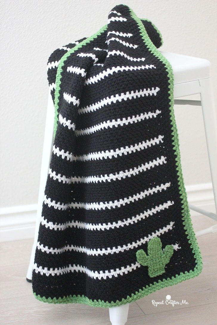 Black And White Striped Moss Stitch Blanket Repeat Crafter Me Crochet Blanket Designs Crochet Blanket Crochet