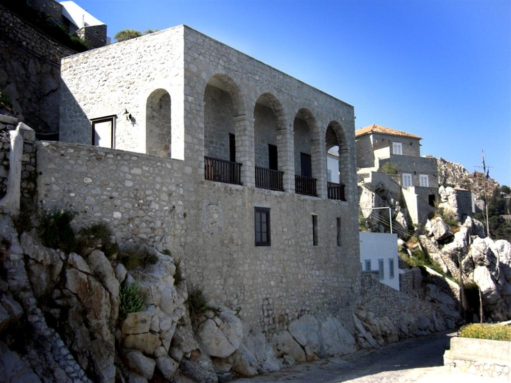 Villa Castello, which Peg and I rented on the Greek Island of Hydra, directly overlooking the Mediterranean Sea.
