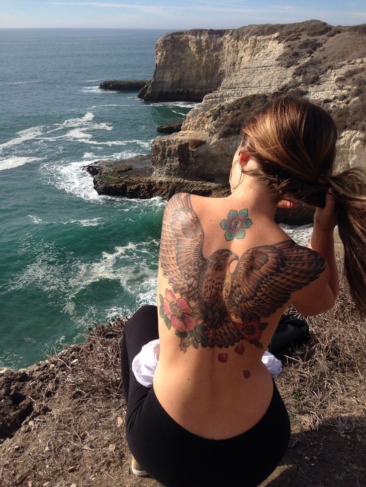 Upper Back Eagle Tattoo