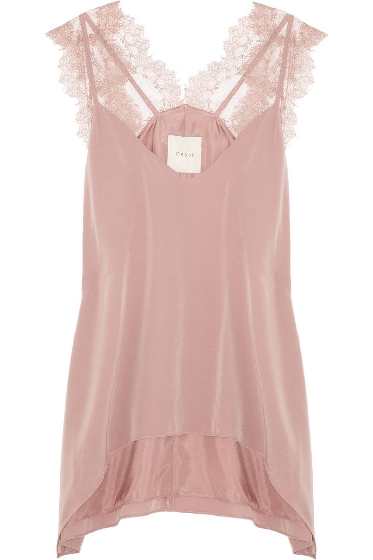 Mason by Michelle Mason | Lace and washed-silk camisole | NET-A-PORTER.COM