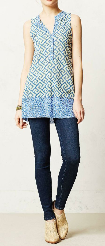 Anthropologie  Bisector Mesh Tunic