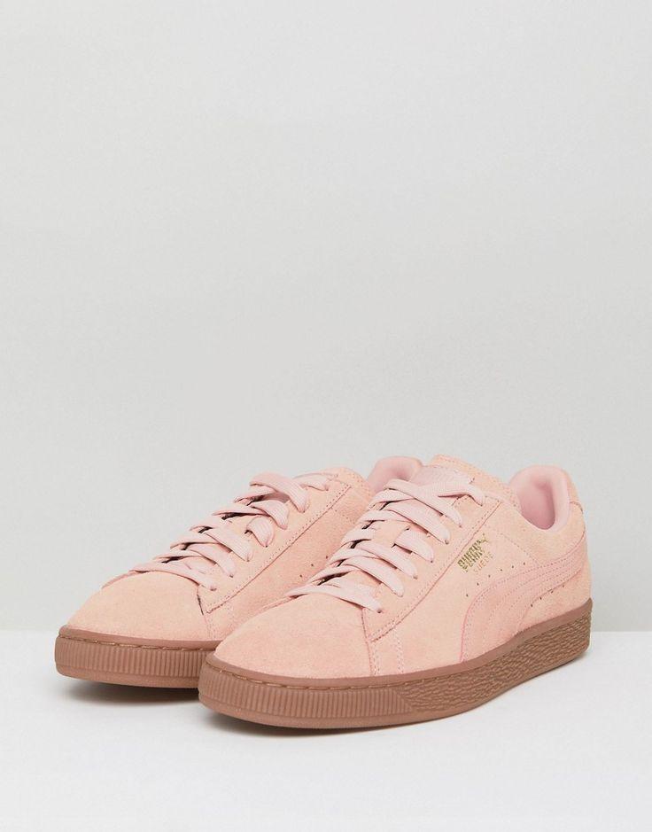 Puma Suede Gum Sole Sneakers In Pink 36324220 - Pink