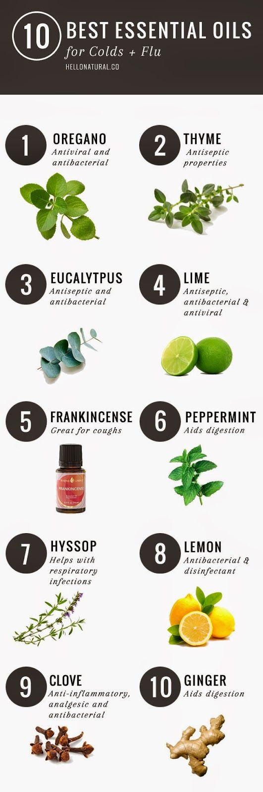 Check out these 10 essential oils for Staying away from cold and flu this Winter