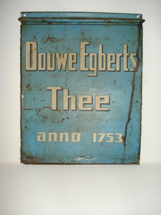 Douwe Egberts Thee  anno 1753  - Reclamebord - Metaal
