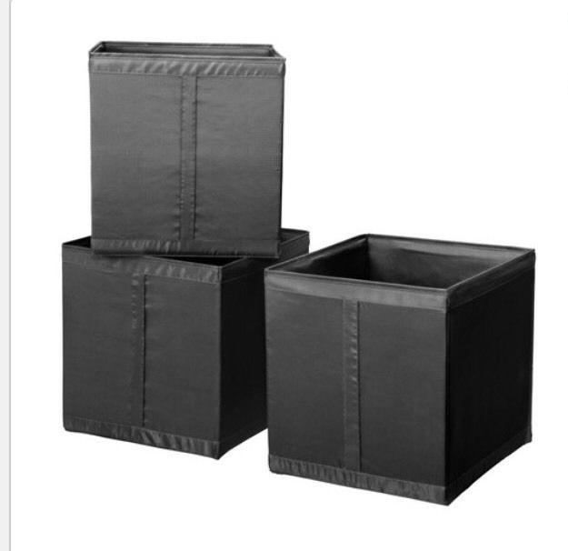 Ikea Skubb 3 Set Storage Boxes Black 31x34x33cm Bnwt
