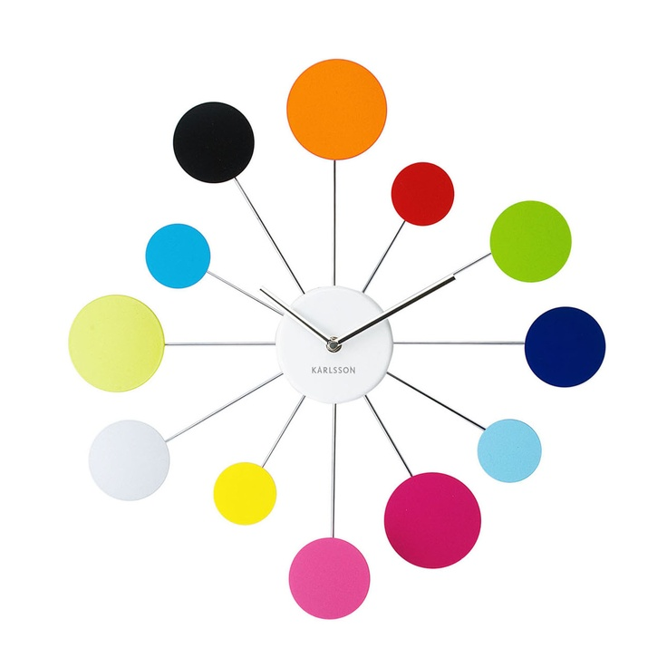 Karlsson Water Lily Multicoloured Wall Clock