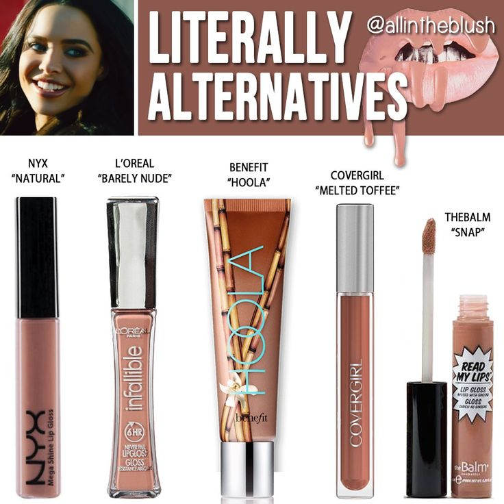 pinterest: @jaidyngrace Kylie Jenner Cosmetics Literally Lip Gloss Alternatives