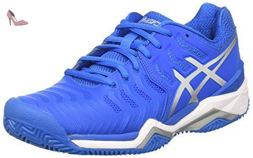 Asics Gel-Resolution 7 Clay, Chaussures de Tennis Homme, Multicolore (Directoire Blue/Silver/White), 42.5 EU - Chaussures asics (*Partner-Link)
