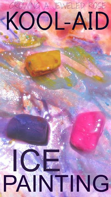 Summer Fun- Ice Painting ~ Growing A Jeweled Rose