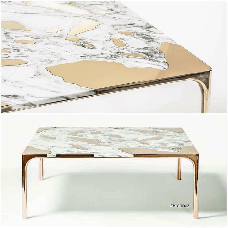From Prodeez Product Design: Marble vs Bronze Table by Studio GT2P. #furniture #table #marble #bronze #creative #design #ideas #designer #gt2p #interior #interiordesign #product #productdesign #instadesign #art #style #furnituredesign #prodeez #industrialdesign