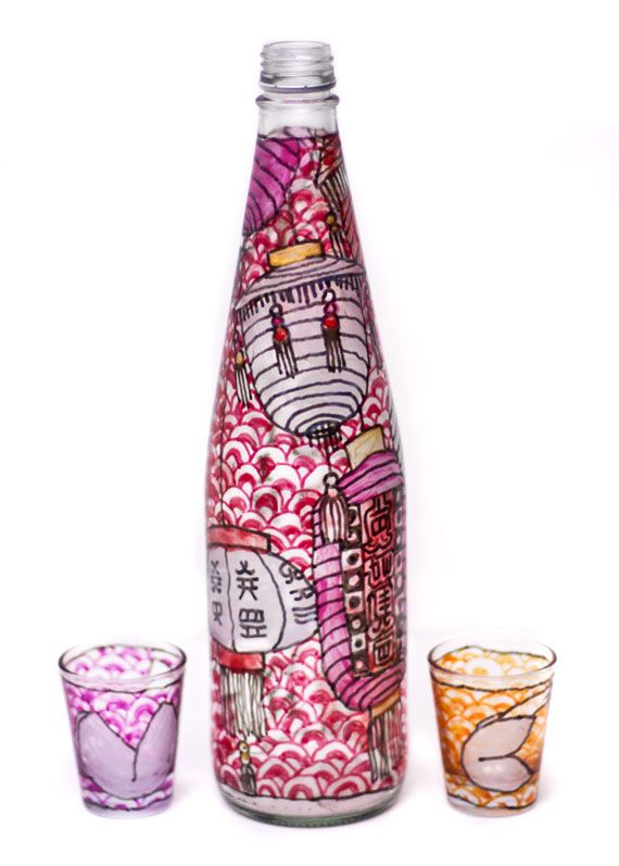 Learn how to decorate glass bottles with colorful, creative messages. A perfect party project, and a great way to reuse old bottles.