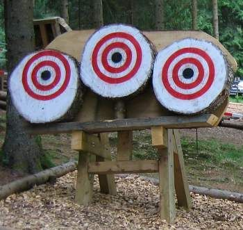 Very sturdy frame to hold tree rounds as knife throwing target.
