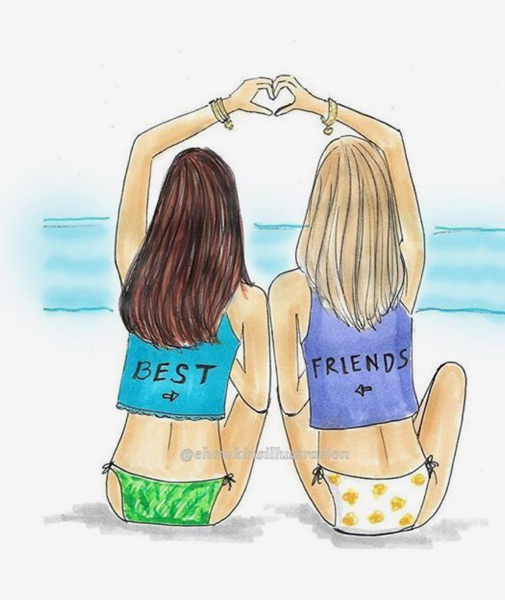 картинка легкая двух подруг