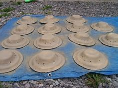 Paper plate safari hats
