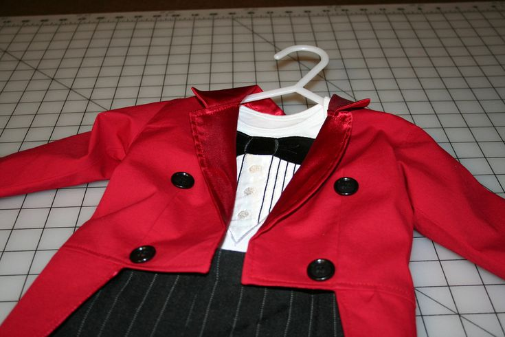 Circus Ringmaster Costume 3 Piece Tuxedo Jacket by CupcakesCottage, $92.50