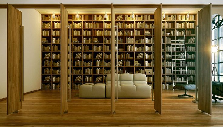 Love love love the room dividers: Bookshelf Design, Home Libraries, Books Rooms, Interiors Design, Reading Corner, Libraries Design, Rooms Dividers, Reading Rooms, Modern Home