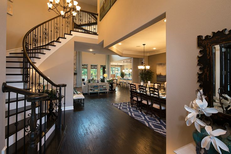 Foyer Luxury Opening Hours : Welcome guests with an elegant winding staircase dark