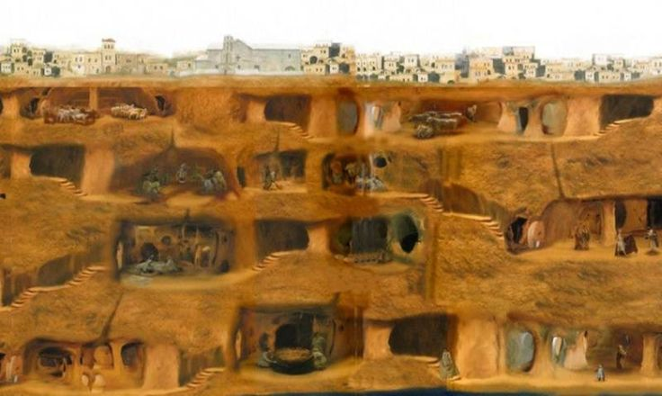 Podzemné mesto Derinkuyu, Turecko