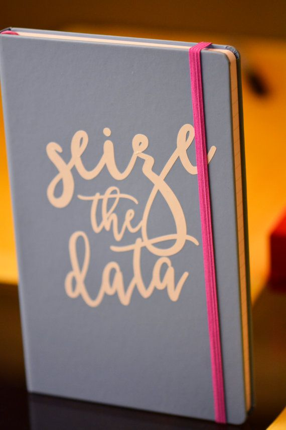 Seize the Data Notebook // Academic Humor // Gift for Nerd //