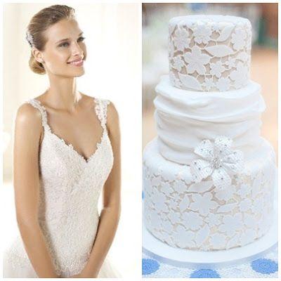 Pronovias trouwjurk met bruidstaart combinatie van www.honeymoonshop.nl