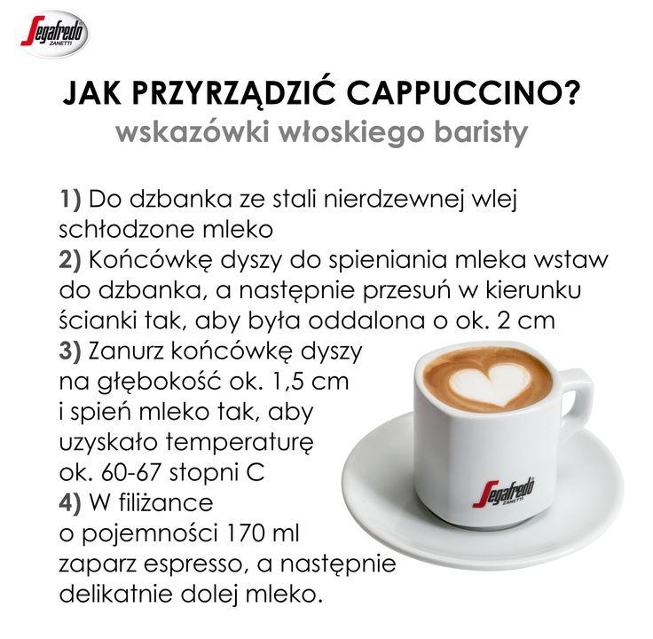 Tą jedną z najpopularniejszych kawowych propozycji na świecie znajdziemy niemal w każdej kawiarni. Czy wiecie czym wyróżnia się prawidłowo przyrządzane cappuccino? #KlubSegafredo #PoradyBaristy #Cappuccino #WłoskaKawa #ItalianStyle #ABCPrzyrządzaniaKawy