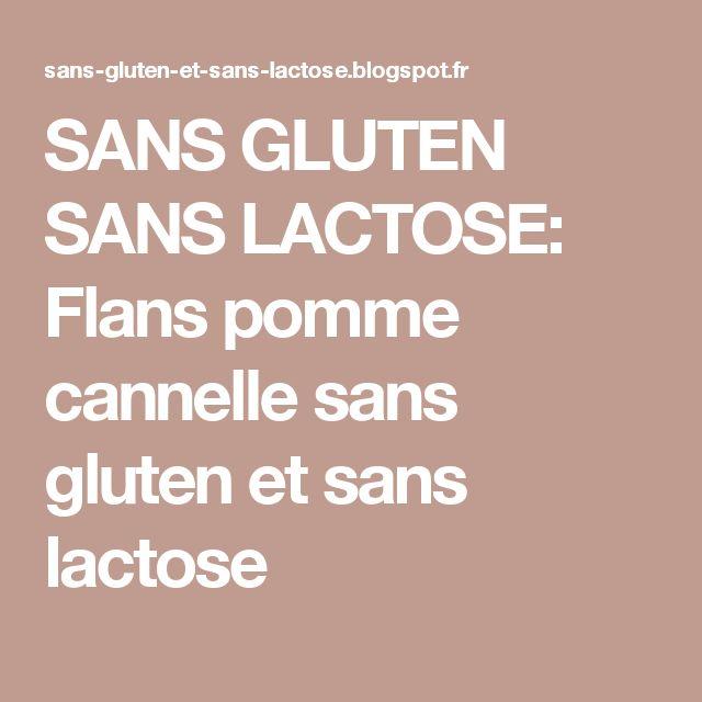 SANS GLUTEN SANS LACTOSE: Flans pomme cannelle sans gluten et sans lactose