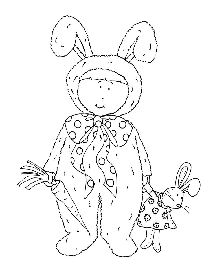 Free Dearie Dolls Digi Stamps See More Bunny Costume Girl