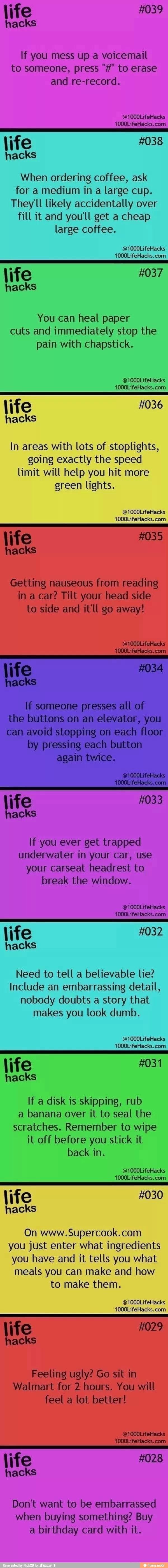 Life hacks :)
