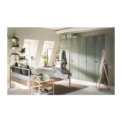 Reinsvoll Door Gray Green Bedroom Closetwardrobe