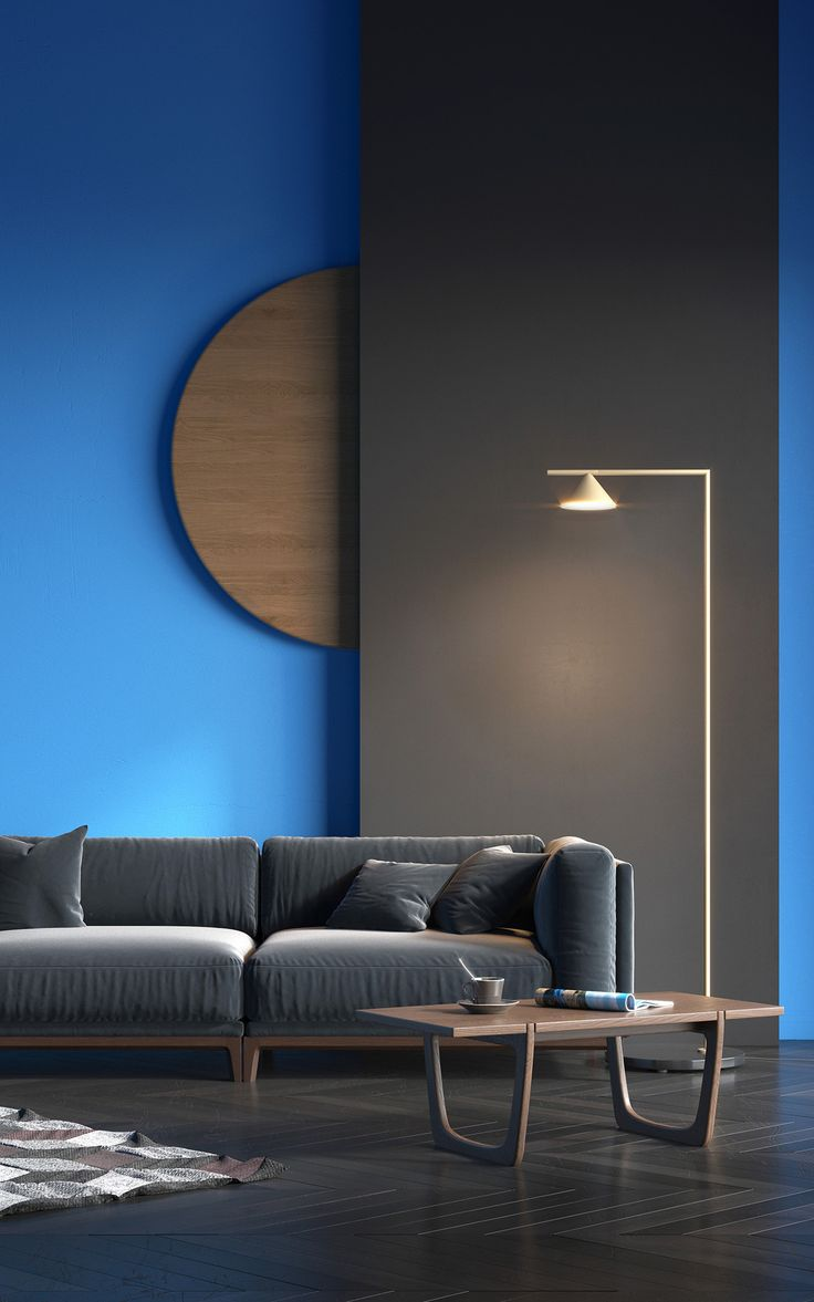 Contemporary design living room blue sofa twipik - Behance Luxury Living Roomsliving Room Modernmodern Kitchen Designsmodern