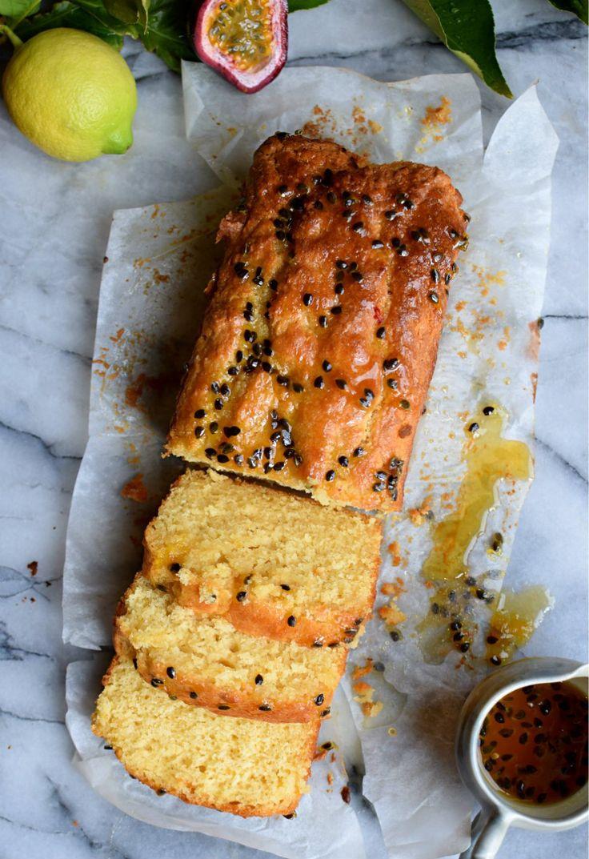Lovely lemon passionfruit loaf