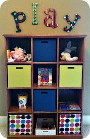 Playroom Shelving & Wooden Wall Art