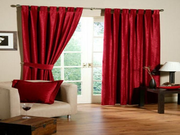 Sweet Red Curtain Living Room With Formidable Colors For Designer Homes Interior Astonishing Black Curtains Very Good Styles