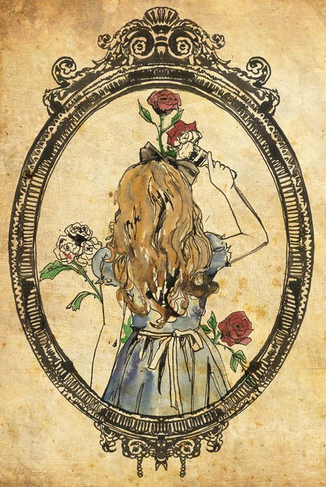 http://katiewoodger.tumblr.com/post/438911013/alice-rebelling-against-the-red-queen-and-painting is the original artist. Trying to get Disney to acknowledge her!