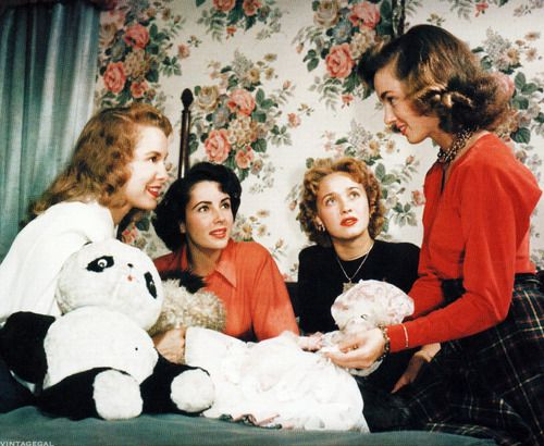 vintagegal:    Janet Leigh, Elizabeth Taylor, Jane Powell and Ann Blyth in a publicity still for Little Women (1949)