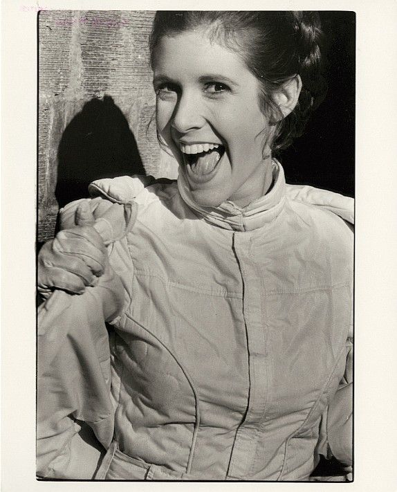 Carrie Fisher's (20) personal out-take photos from Star Wars films.