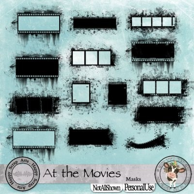 At the Movies masks [Happy Scrap Arts] - $2.95 : Moo Two Designs, The Udder way to Scrap!