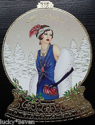 11 Clintons Art Deco Lady Embellished Christmas Cards 3 ...