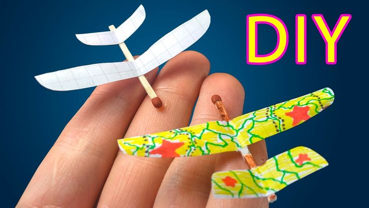 How To Make Small Airplane From Matches - Simple Mini Toy