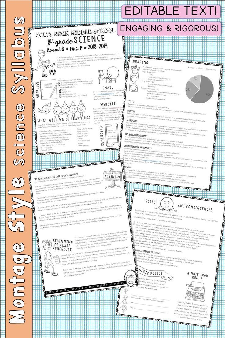 I Have Found This Syllabus Format To Be The Most Engaging And Effective For My Students It Inc Syllabus Middle School Science Class Science Teaching Resources