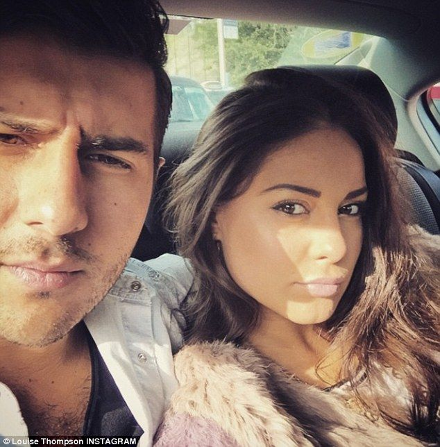 Loved-up: Louise and Alik have been an item since love blossomed between them in September last year